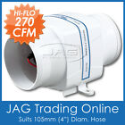 "12V 270CFM IN-LINE BOAT BILGE AIR BLOWER SUIT 4"" HOSE-Boat/Marine/Caravan/Inline"