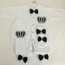 100%cotton newborn baby shower outfit gift 3 pics 0-3 months for boys&girls