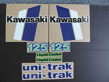 1982 KAWASAKI KX 125 GAS TANK, SIDE PANEL AND SWINGARM  DECAL KIT