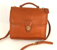 Authentic Vintage Coach Brown Leather 2-Way Cross-body Shoulder bag Purse