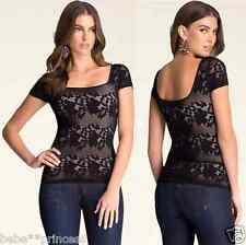 NWT bebe XXS XS S black ivory nude floral overlay lace top dress stretchy sexy