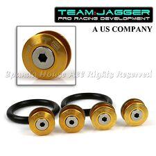 FOR VW MODELS! JDM FLUSH WASHERS FRONT QUICK RELEASE BUMPER FASTENER DIY GOLD