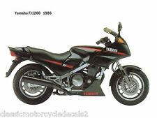 Yamaha FJ1200 restauración DECAL set