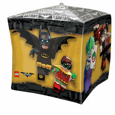 Lego BATMAN Movie Gotham Heroes & Foes Children's Party CUBE Shape Foil Balloon