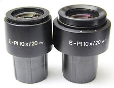 Pair Zeiss E Pl 10x 20 Glasses Microscope Eyepieces 30mm 444232 444231 E-Pl