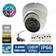 HD TVI 1080P Dome Camera 30FPS IP66 2.8mm 18IRs BNC 12VDC