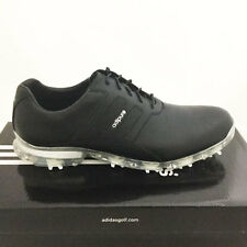 ADIDAS MEN'S ADIPURE CLASSIC GOLF SHOES SIZE: 9 M  BLACK  *SAMPLE*  ZT TP 17403