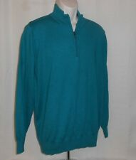 L.L. BEAN Sweater Pullover Cotton & Cashmere Men Size L Large Long Sleeve Green