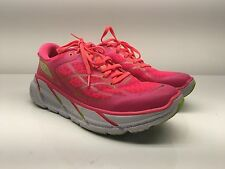 $130 Hoka One One Clifton 2 Running Shoe Neon Pink/Acid Women's size 9