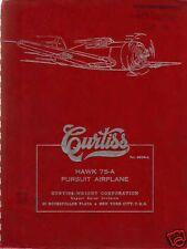 1940's Curtiss P-36 Hawk Mohawk 75 historic period Manuals Pursuit plane RARE