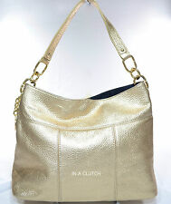 NWOT AUTH TOMMY HILFIGER TH TOMMY METALLIC GOLD LEATHER BAG MSRP $138.00 #306M