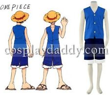 One Piece Monkey D Luffy Cosplay Costume -  2nd Blue color