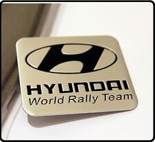 Hyundai World Rally Team Aluminio Motorsport coche insignia emblema Sticker Decal 51