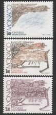 Monaco 1982 Fontvielle/Harbour/Buildings/Construction/Boats 3v set (n39157)