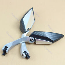 8mm 10mm Universal Black Diamond Motorcycle Motor Rearview Rear View Side Mirror