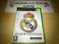 XBOX REAL MADRID CLUB FOOTBALL TEMPORADA 2003/2004 PRECINTADO PAL ESPAÑA
