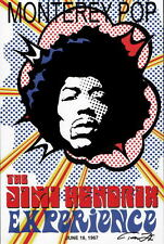 JIMI HENDRIX - MONTEREY POP Rock n Roll PRINT Created & HAND SIGNED by Tom Zotos
