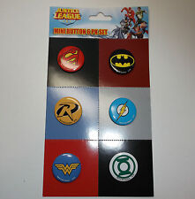 DC Comics Justice League Mini Button Pins 6 set Batman Superman