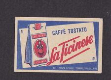 Ancienne étiquette Allumettes Suisse  BN12132 Café La Ticinese