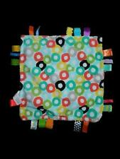 Kids II Bright Starts Taggies Yellow Circle Print Lovey Blankie Baby Blanket