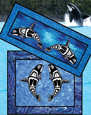 Orca Killer Whale Quilt Pattern Table Runner Wall Hanging DIY Quilting Ocean