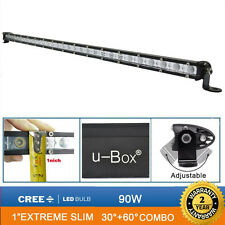 u-Box 31inch 90W Flood Spot Combo Beam Work Light Bar Slim Cree LED For Truck