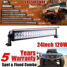 24inch Led Light Bar Work Combo Offroad Truck Driving Fog Jeep 4WD UTE SUV 24/20