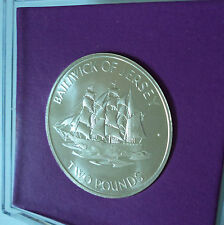 1972 Jersey £2 (Silver Struck Bullion Investment) Coin Gift Set in Display Case