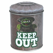 Sesame Street OFFICIAL Grouch Dustbin Shaped Retro Tin Money Box Gift