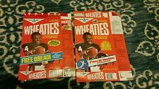 Walter Payton Wheaties Box Lot of 2 Commemorative Edition 1987 and 1988 Rare