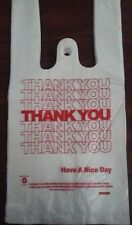 NEW 500 ct PLASTIC SHOPPING BAGS T-SHIRT TYPE, GROCERY WHITE SMALL SIZE BAGS.