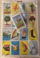 "JUMBO 9x14"" Large Board Mexican Loteria Bingo Game Deck Card LowVision Education"