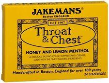 Jakemans Throat - Chest Lozenges Honey and Lemon Menthol 24 Each (Pack of 9)