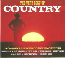 THE VERY BEST OF COUNTRY - 3 CD BOX SET - GLEN CAMPBELL, PATSY CLINE & MORE