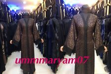 Latest Design Dubai Abaya Kaftan Farasha  Maxi Dress Abaya +hijab {SCARF}