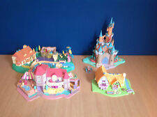 Polly Pocket Bundle Compact Playsets Disney Magical Cinderlla Snow White Castle