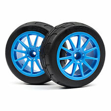 HPI Wr8 Mounted Gymkhana Tire/Speedline Corse Turini Wheel Set (Cyan/2Pcs) - 115