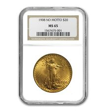 $20 Saint-Gaudens Gold Double Eagle Coin - Random Year - MS-65 NGC - SKU # 125