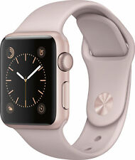 NEW Apple Watch Series 1 38mm Rose Gold Aluminum Case Pink Sport Band: MNNH2LL/A