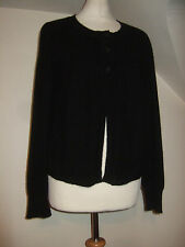 LADIES BETTY JACKSON BLACK 100% CASHMERE CARDIGAN SIZE 14