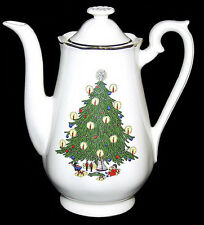 Hall China Christmas Tree Decorated Demitasse Coffee Pot - Decal with Doll