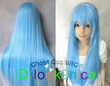 Hatsune Miku Light Blue Long Straight Anime party Cosplay Full Wig  NO:L87