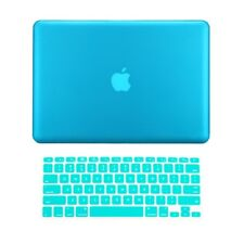 "2 in 1 Rubberized AQUA BLUE Case for Macbook PRO 13"" A1278 with Keyboard Cover"