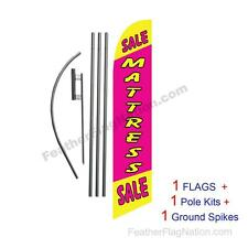 Yellow Pink Mattress Sale 15' Feather Banner Swooper Flag Kit with pole+spike