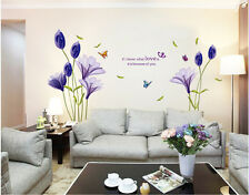 Love Flower Removable Vinyl Decal Wall Sticker Mural DIY Art Room Home Decor