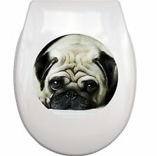 MOPS PUG WC Aufkleber toilet sticker M3 wasserdicht waterproof