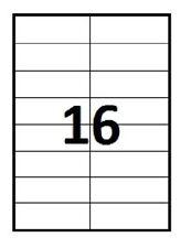 100 planches A4 d'étiquettes adhésives 35 x 105 mm ( 16 par A4 )