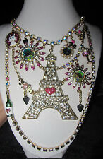 BETSEY JOHNSON PARIS IS ALWAYS A GOOD IDEA EIFFEL TOWER STATEMENT NECKLACE
