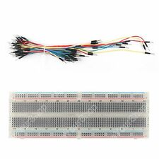 MB102 Crystal Protoboard Breadboard 830 Point+65Pcs Jumper Câble wires Arduino