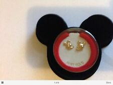 Vintage Van Dell Disney Mickey Mouse Earrings 14kt Gold baby new in box